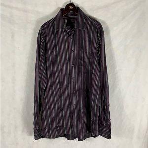 Forsyth of Canada Purple Dress Shirt 16 34/35